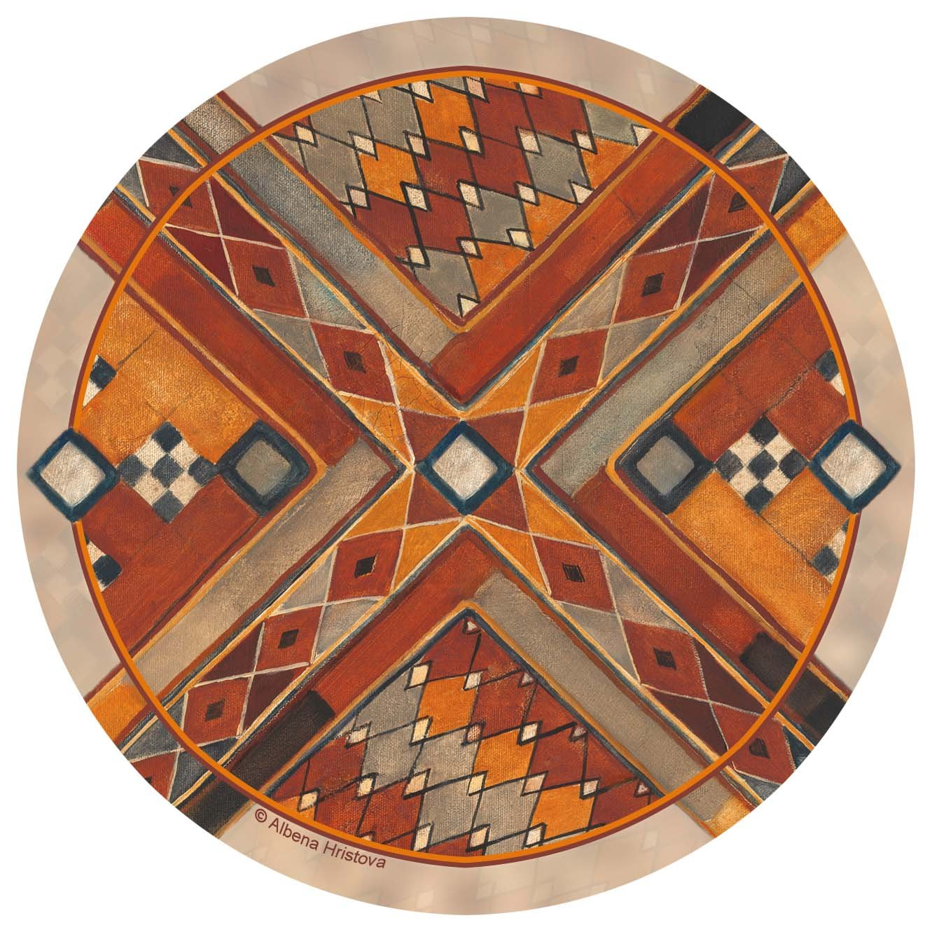 Thirstystone Stoneware Coaster Set, Southwest Pattern III