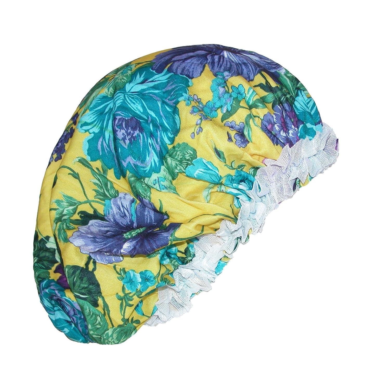 CTM® Women's Satin Hair Roller Sleep Cap Cover Argan Oil Multi-Color DW-DRE5089-MUL