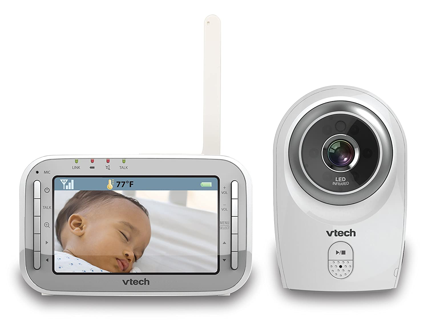 VTech VM341 Safe and Sound Video Baby Monitor with Night Vision, White VTech Canada