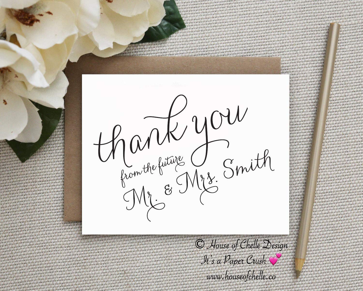 Personalized Wedding Thank You Cards Thank You Cards For Wedding. Custom Wedding Thank You Cards Personalized Mr and Mrs Thank You Cards