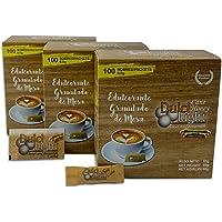 DULCILIGHT CAÑA Totale 300 buste, DOLCIFICANTE con il sapore naturale del Granulato di zucchero di canna, confezione da 3 astucci x 100 C / U.