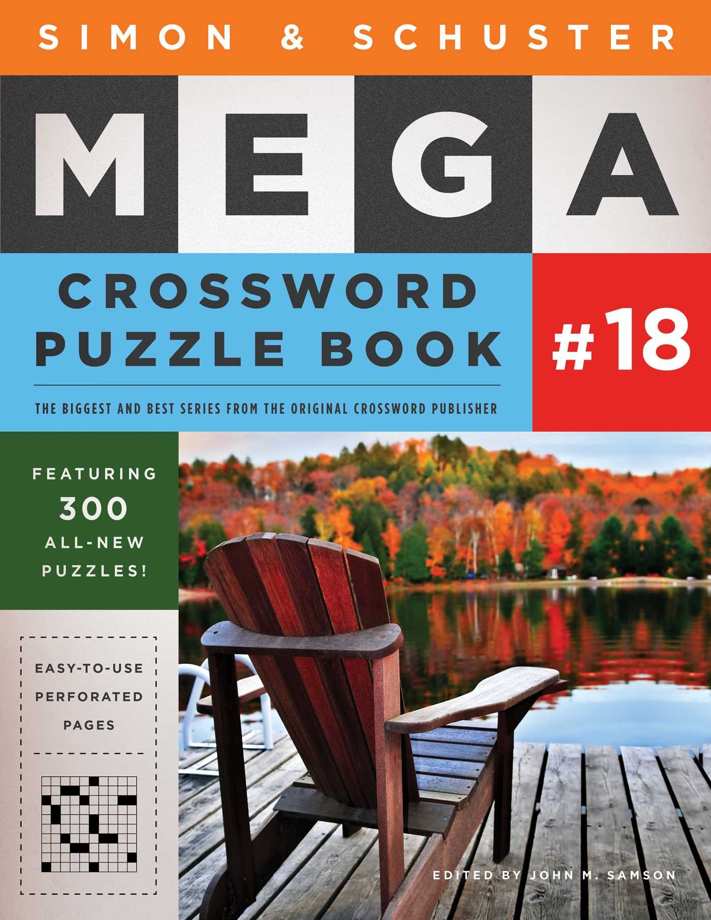 Simon And Schuster Mega Crossword Puzzle Book  18  SandS Mega Crossword Puzzles Band 18
