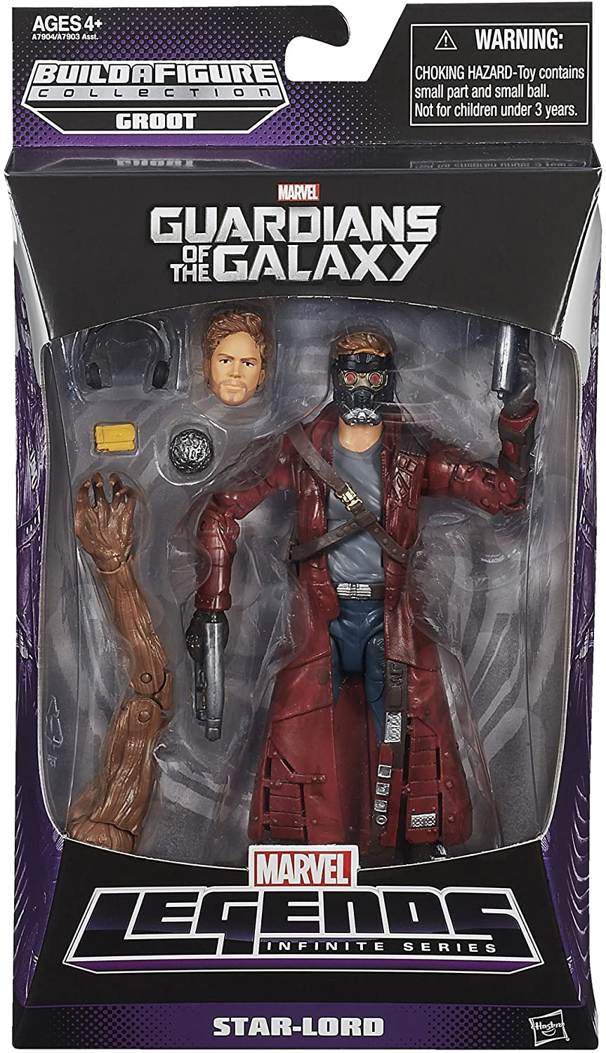 """HASBRO MARVEL Quill Star Lord FROM GUARDIANS OF THE GALAXY 2014 5/"""""""