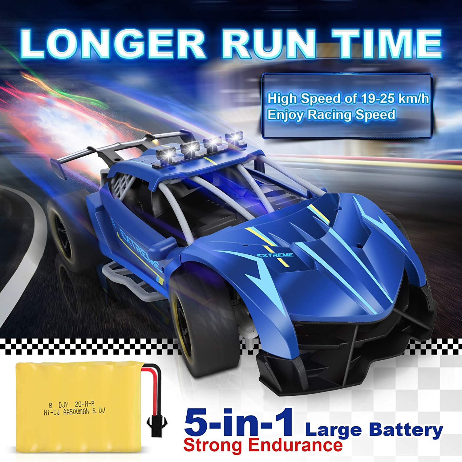 RC Cars 1:12 Scale Sports Car with Awesome Rear Fog Stream /& LED Lighting Spray 4WD Off Road Rock Crawler High Speed 25 Km//h Racing RC Car Toys with Rechargeable Battery All Terrain