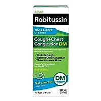 Robitussin Sugar-Free Dye-Free Cough + Chest Congestion DM Adult Cough + Congestion Relief Liquid 4 fl. oz. Box
