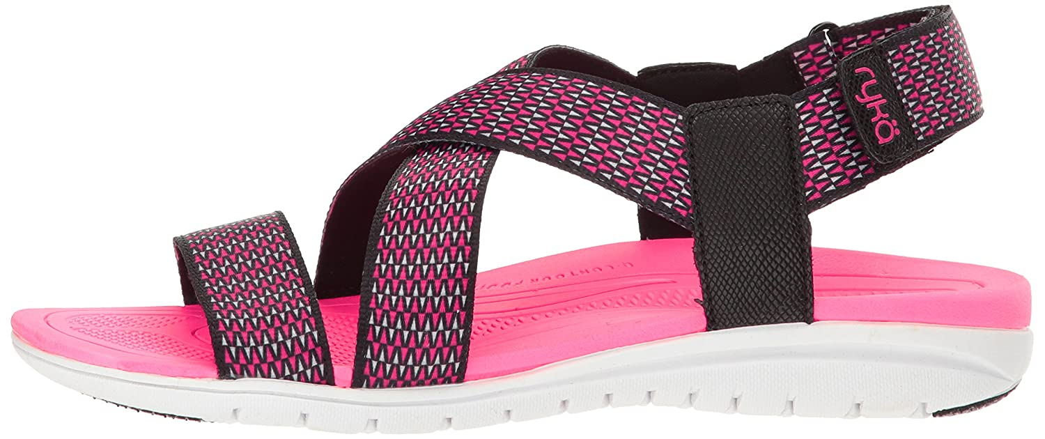 Ryka Women's Belmar Athletic Sandal B01KWH5J8S 5 W US|Black/Grey