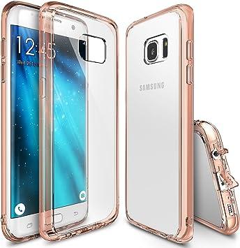 Funda Galaxy S7 Edge, Ringke [FUSION] Choque Absorción TPU Parachoques [Choque Tecnología Absorción][Conviviente tapón antipolvo] para Samsung Galaxy S7 Edge - Rose Gold Crystal: Amazon.es: Informática