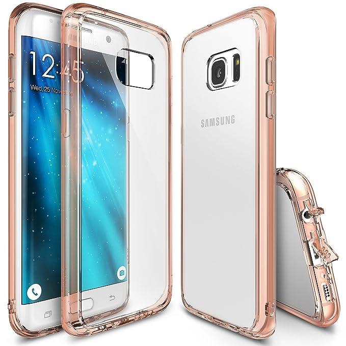 11 opinioni per Custodia Galaxy S7Edge, Ringke [Fusion] autoscontro absorcin TPU Paraurti
