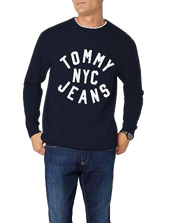 d6716741 Tommy Jeans Men's Essential Graphic Sweatshirt, Black at Amazon Men's  Clothing store: