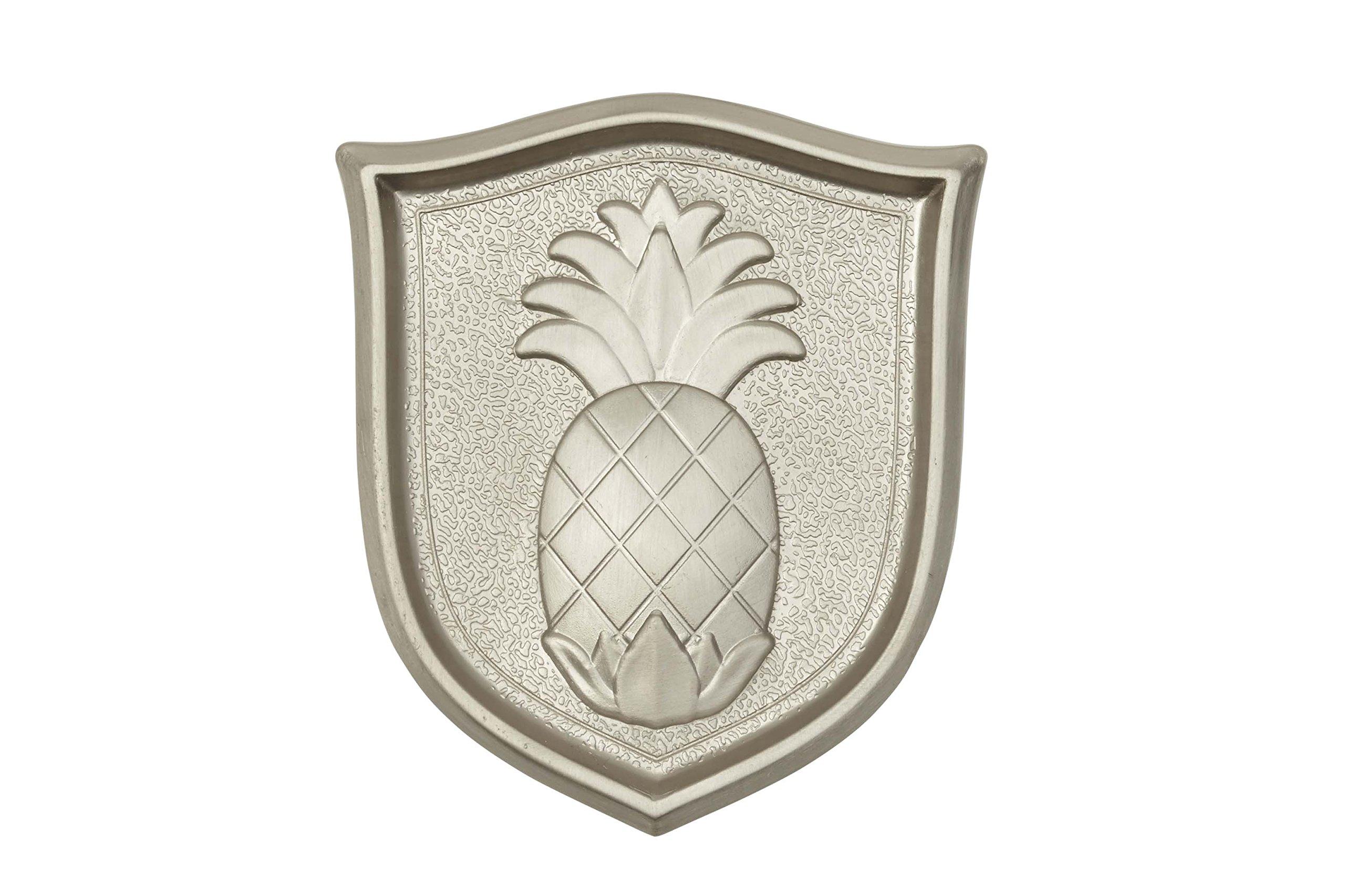 Architectural Mailboxes 3630SN Aluminum Satin Nickel Pineapple Emblem