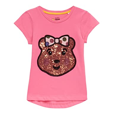 BBC Children In Need Girls' Pink 'Blush' Sequin T-Shirt: BBC ...