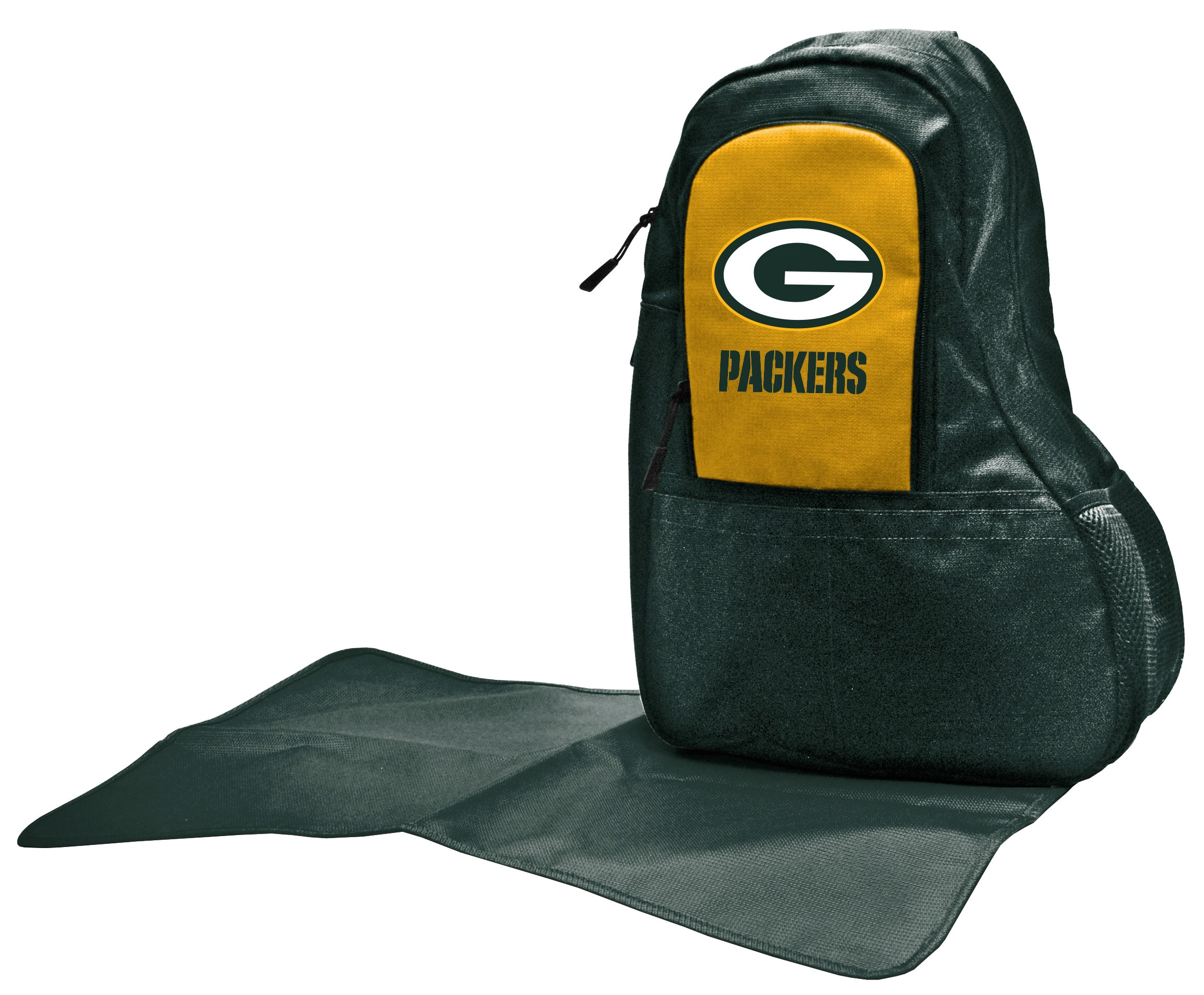 Wild Sports NFL Green Bay Packers Diaper Sling Bag, 17 x 13 x 7-Inch, Green
