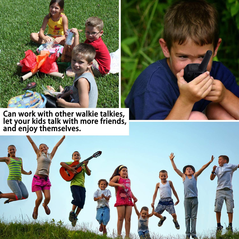 [2 Packs]Walkie Talkies for Kids, DealKits Long Range(9000feet) 22 Channels Walkie Talkies Hiking Gear Indoor Outdoor Camping Accessories Toys for 3 4 5 6 7 8 9 Year Old Boys Girls by DealKits (Image #6)