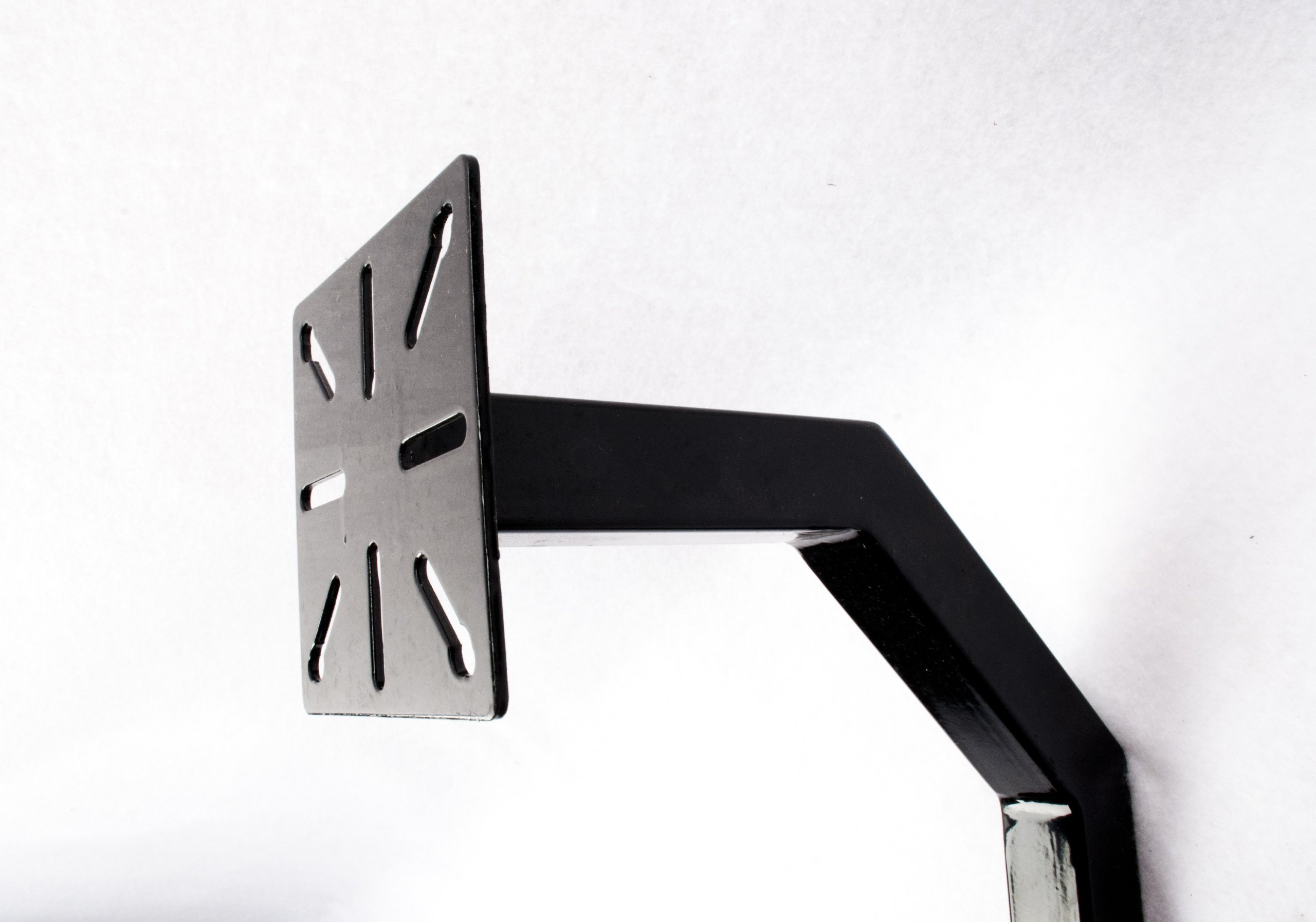 ALEKO LM108 Universal Mounting Post Gate Entry Gooseneck Keypad Stand 51 Inches Tall Black
