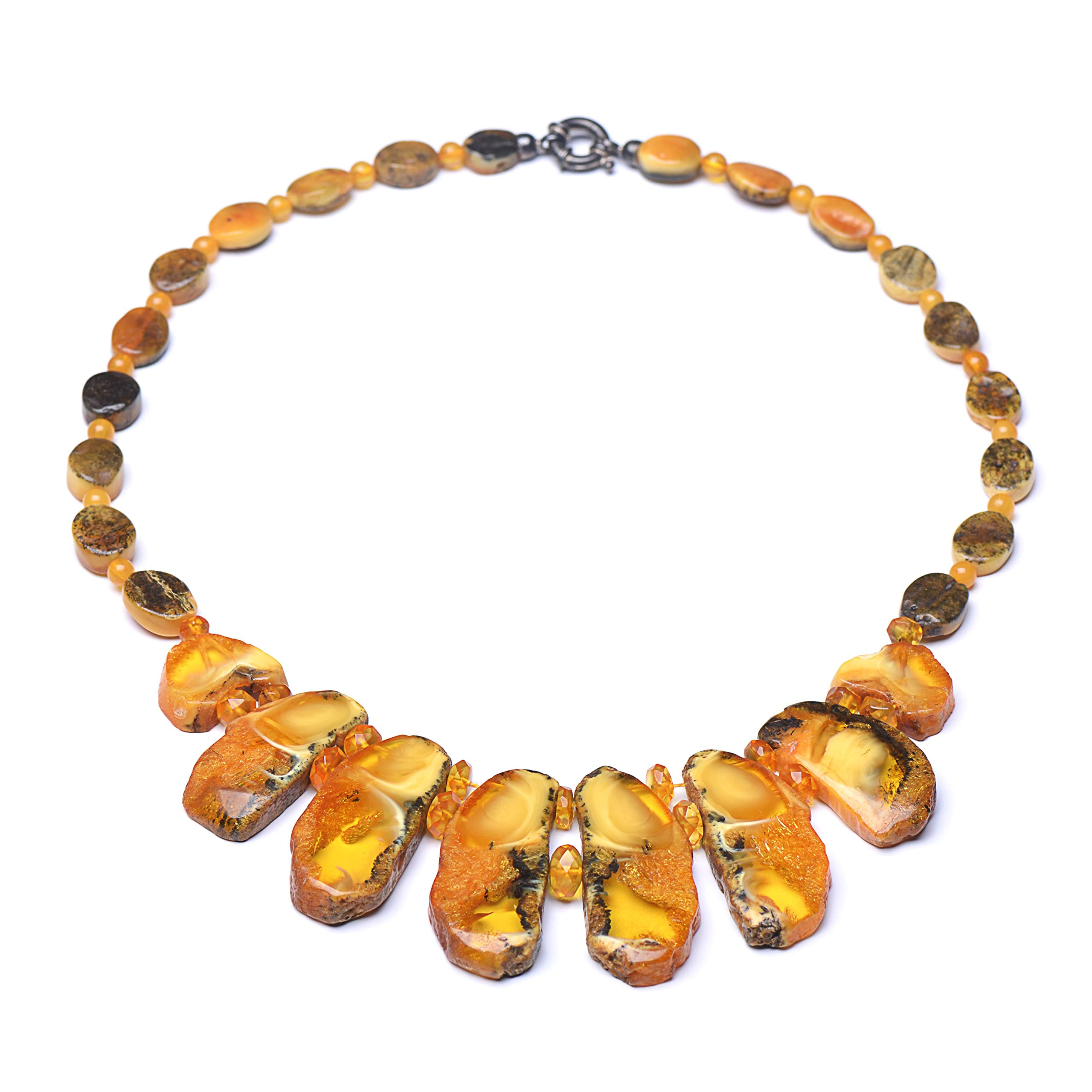 Vintage Amber Necklace - Exclusive Amber Necklace - Unique Baltic Amber Necklace for Woman - Certified Necklace by Genuine Amber