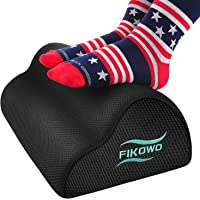 Fikowo Under Desk Foot Rest with Ergonomic Height (Black)