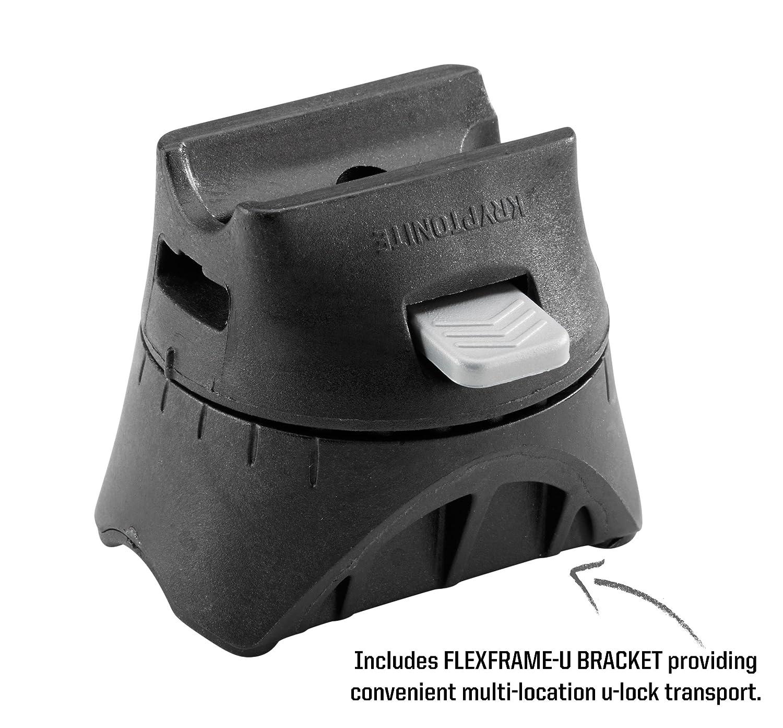 Adulto Kryptonite U-Locks 10.2 x 22.9 Blocco Disco Evolution Standard con Supporto Flexframe-U Unisex Arancione