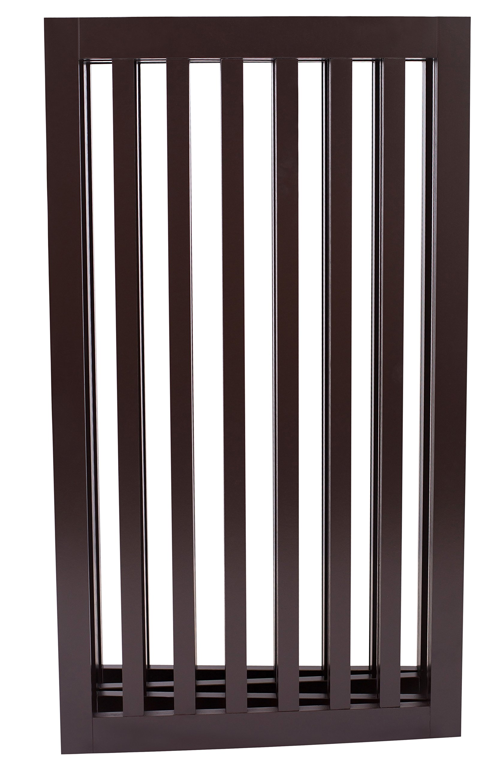 Internet's Best Traditional Pet Gate | 4 Panel | 36 Inch Tall Fence | Free Standing Folding Z Shape Indoor Doorway Hall Stairs Dog Puppy Gate | Fully Assembled | Espresso | Wooden by Internet's Best (Image #2)