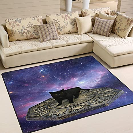 Amazon Com Alaza Black Cat Astrology Area Rug Rugs For Living Room Bedroom 7 X 5 Home Kitchen