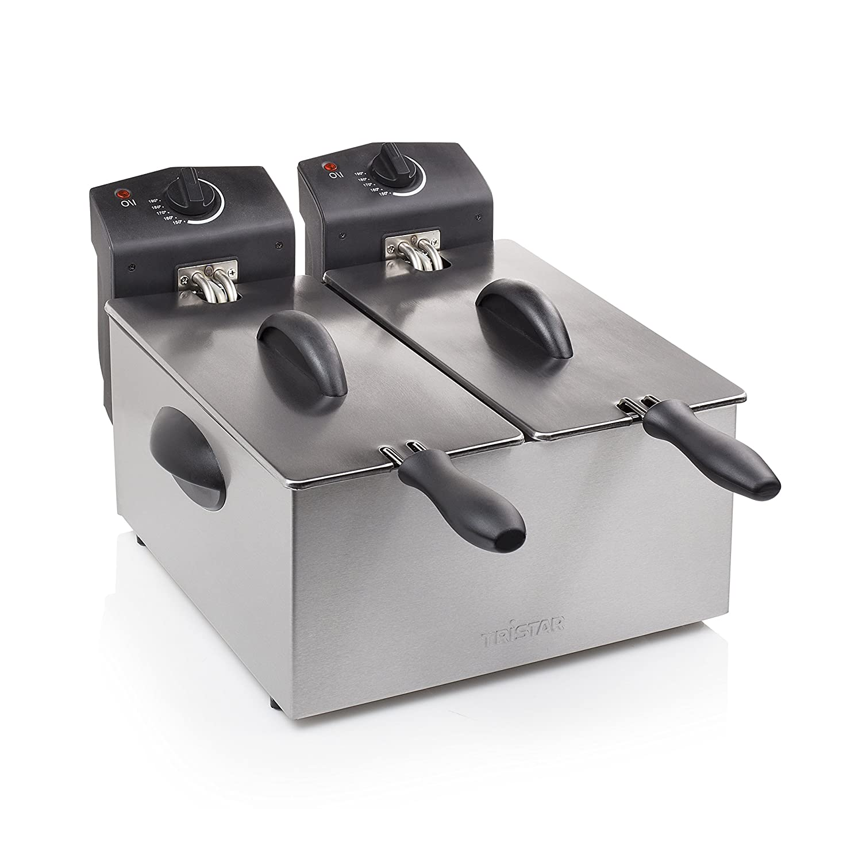 Les deux cuves peuvent /être utilis/ées s/épar/ément. Contenance 2 x 3 l Friteuse Tristar FR-6937