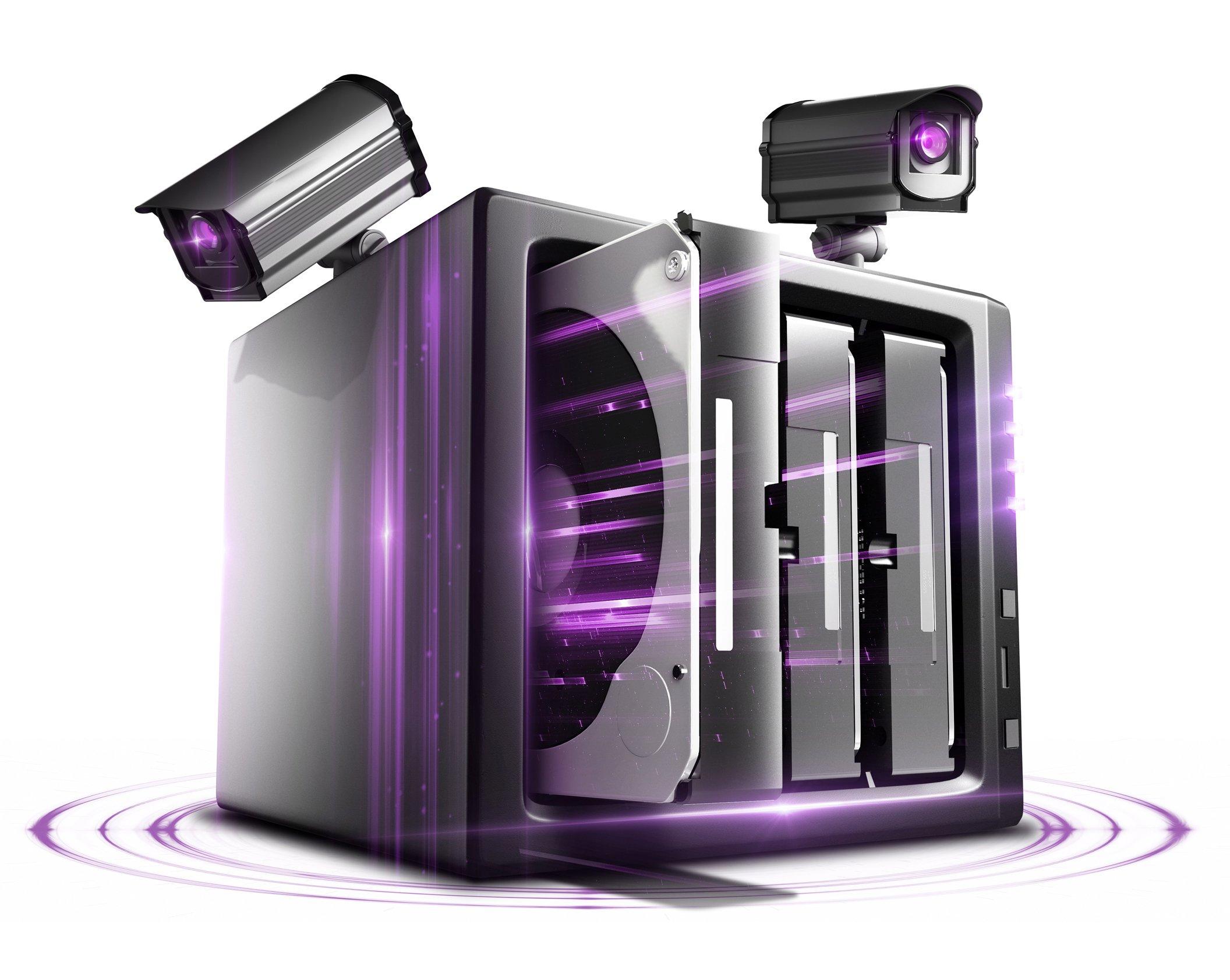 WD Purple 10TB Surveillance Hard Disk Drive - 5400 RPM Class SATA 6 Gb/s 256MB Cache 3.5 - WD100PURZ by Western Digital (Image #2)