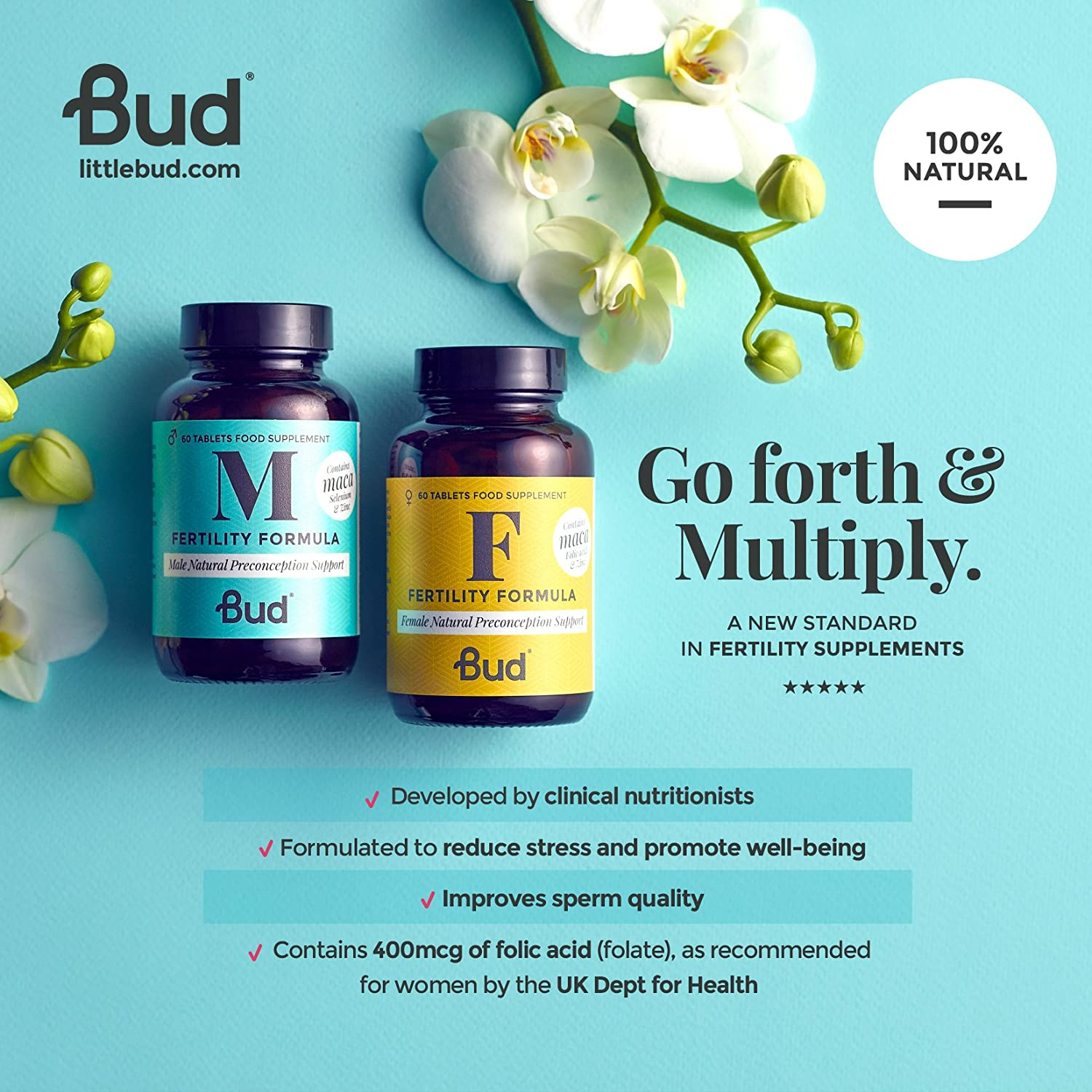 Bud Female Fertility Supplement Natural Vitamins For Cottage Happy Shower Sex On The Beach 250 Ml Cranberry Women With Maca Folic Acid Zinc Vitamin D 60 Tablets Made In Uk