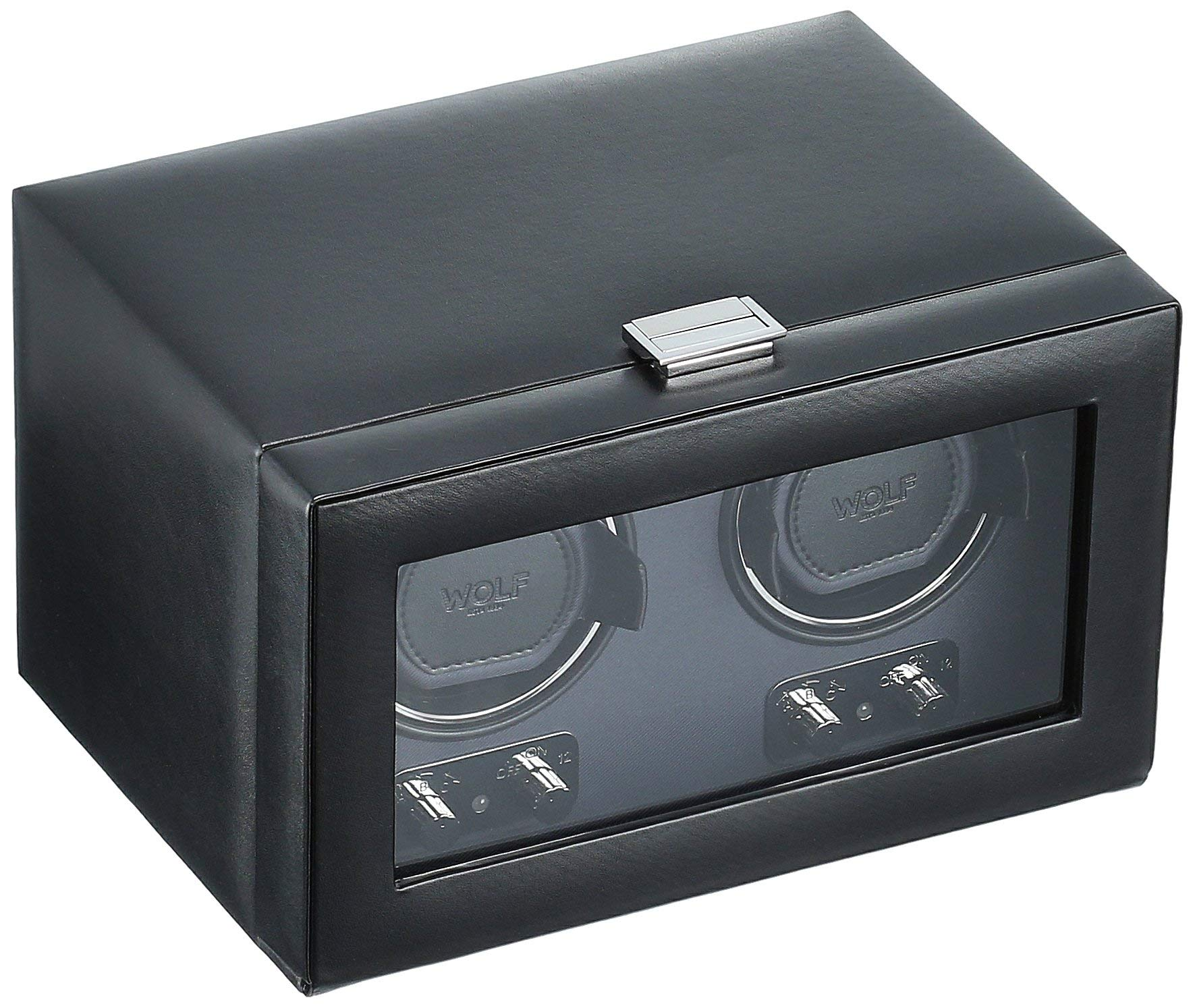 WOLF 270102 Heritage Double Watch Winder with Cover, Black by WOLF