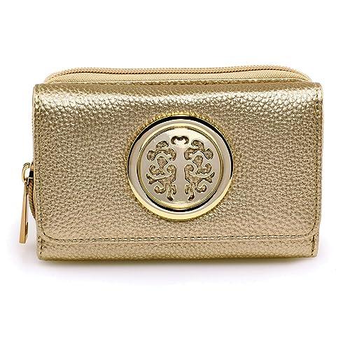 Xardi London nuevo pequeñas niñas señorías moneda dinero carteras de viaje en tarjeta de bolso de mano de piel sintética mujer Dorado dorado: Amazon.es: ...
