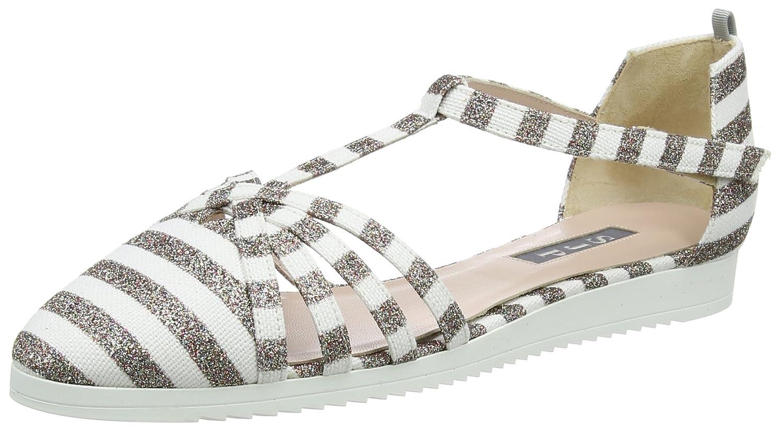 SJP by Sarah Jessica Parker Women's Meteor Sneaker B073X1X5W3 40 M EU|Rose Gold/White Stripe