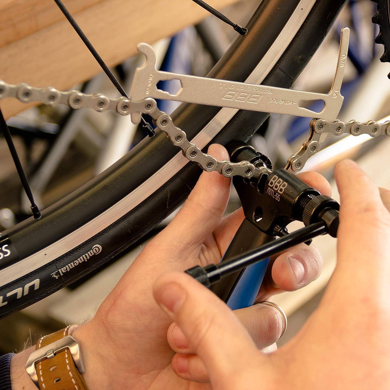 BBB Cycling Kettenmesslehre Multitool mit Kettenhaken f/ür Fahrr/äder