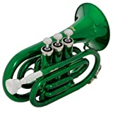 Mendini MPT-GN Green Lacquer Brass Bb Pocket