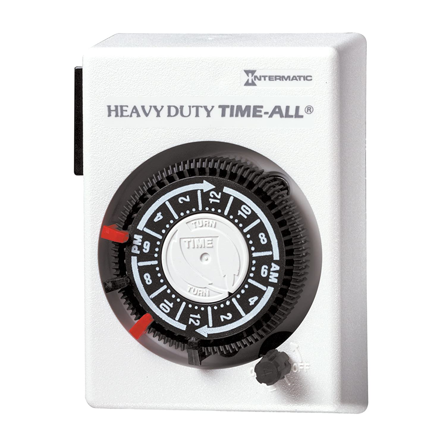 Hb110 Series 20-Amp Air Conditioner Appliance Plug-In Timer White Intermatic