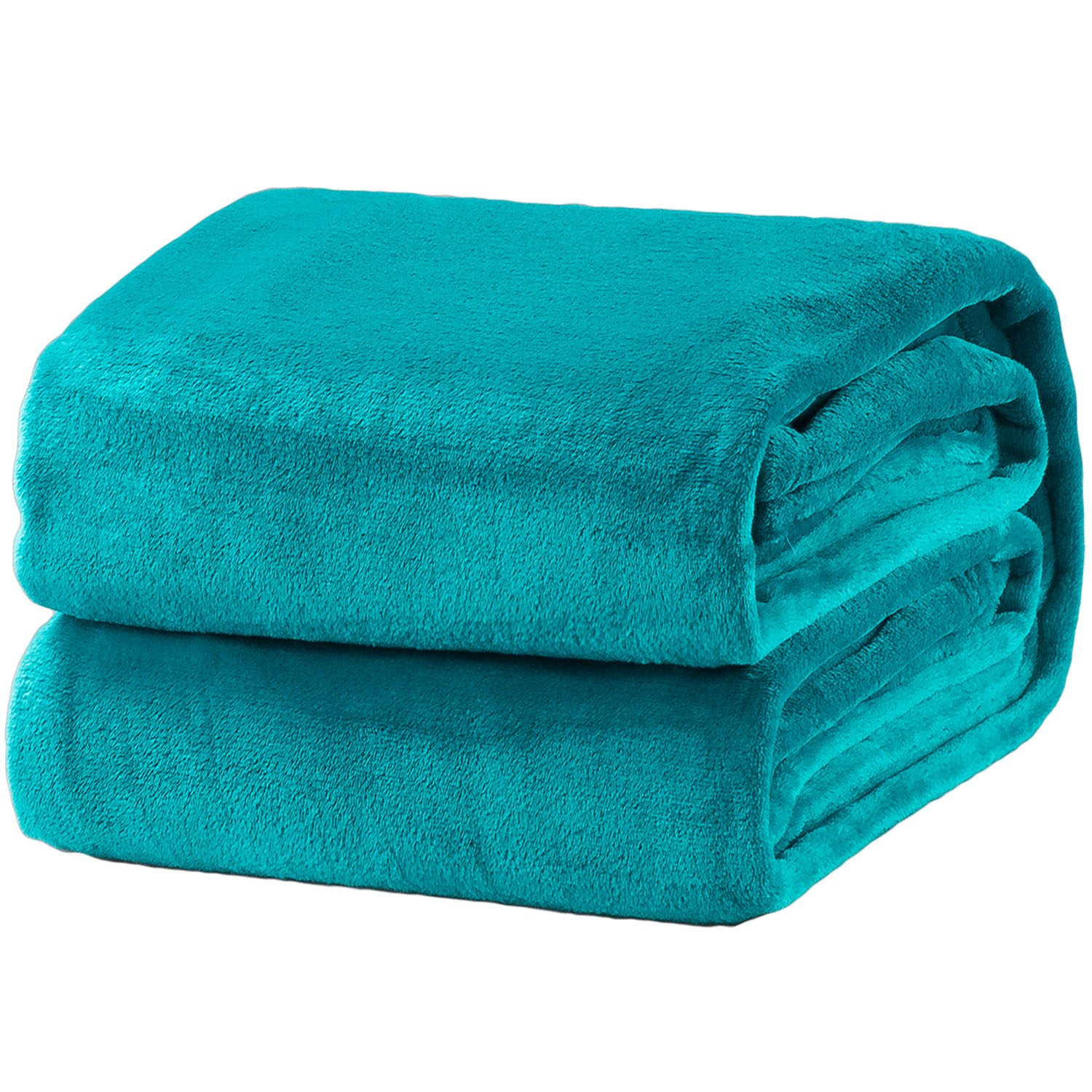 Bedsure Fleece Blanket King Size Teal Lightweight Super Soft Cozy Luxury Bed Blanket Microfiber
