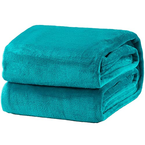 Teal Color Bed Throws Amazon Com
