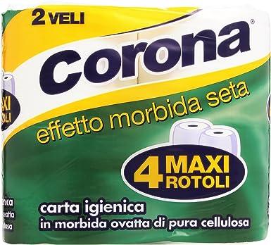 Corona – Papel Higiénico, de suave algodón de celulosa pura, 2 ...