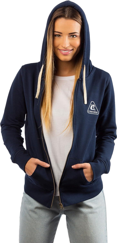 Cressi Hoodie Sweatshirt with Zip for Women in Premium Organic Cotton