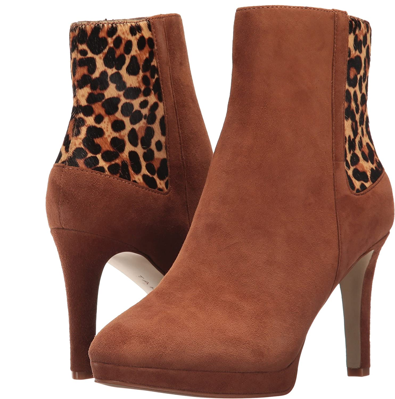 Tahari Women's TA-Serena B071RTFXBW 8 B(M) US New Cognac Suede/Leopard