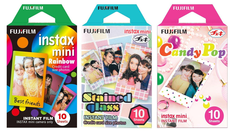 Fujifilm Instax Mini Instant Film Rainbow & Staind Glass & Candy Pop Film