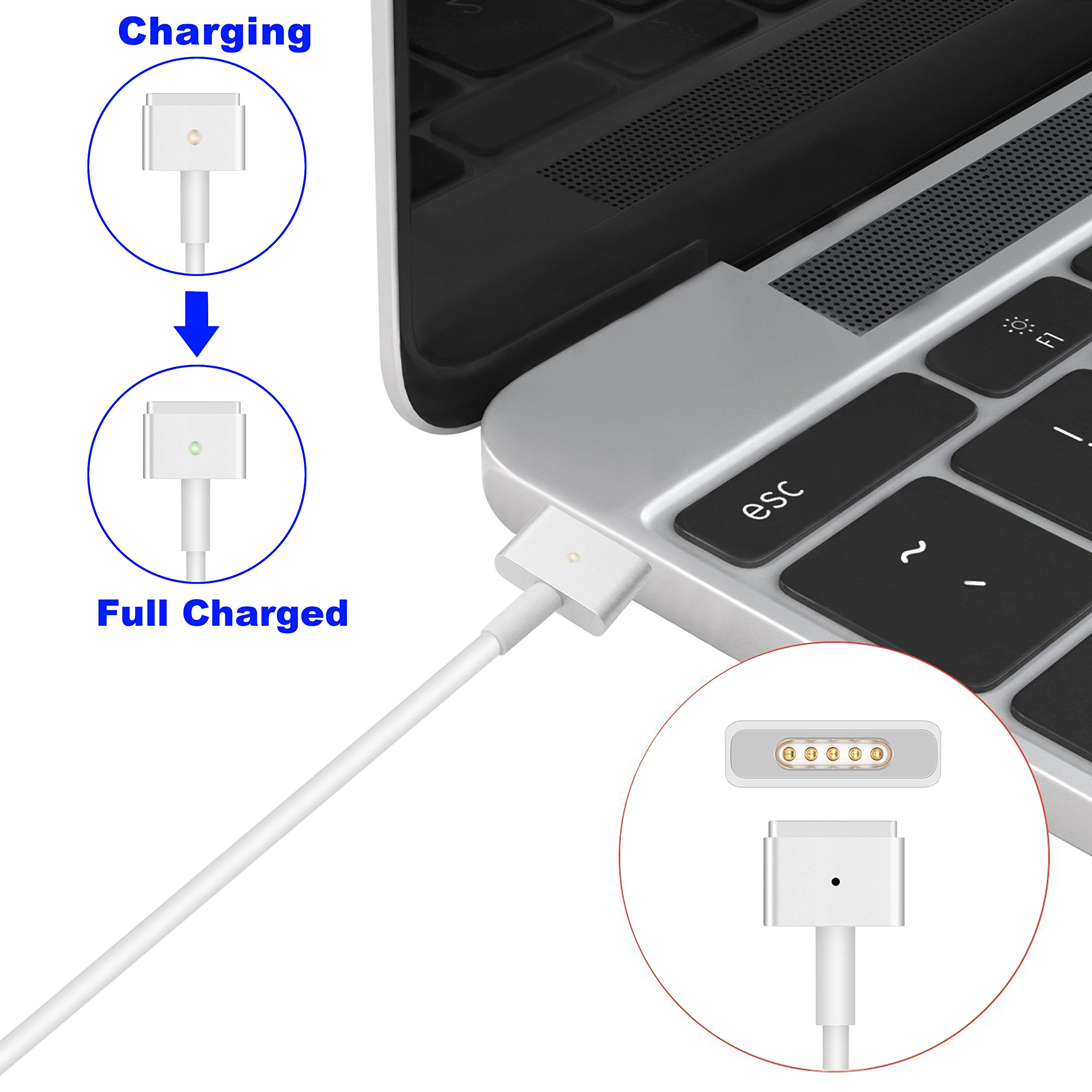 Fit for MacBook Air Charger, Aonear Replacement 45W T-Tip Magsafe 2 AC Power Adapter Charger for MacBook Pro/Air 11-inch& 13-inch-18-month Warranty by aonear (Image #5)