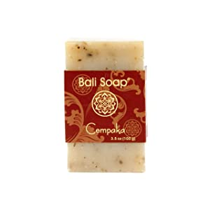 Bali Soap - Magnolia Champaca Natural Soap Bar, Face or Body Soap, Best for All Skin Types, For Women, Men & Teens, Pack of 3, 3.5 Oz each