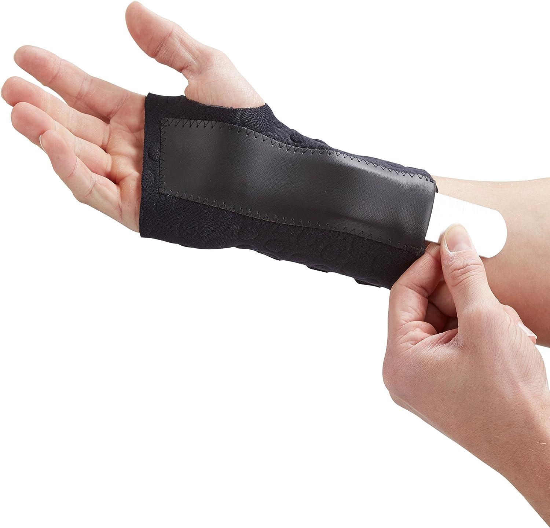 Actesso Férula para muñeca y órtesis muñequera Negra de Stomatex Reducir el Dolor de síndrome de túnel carpiano, esguinces de muñeca o Artritis. con homologación médica (Grande, Derecha (17-19 cm))