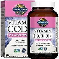 Garden of Life Multivitamin for Women 50 & Over, Vitamin Code Women 50 & Wiser Multi - 120 Capsules, Vitamins for Women…