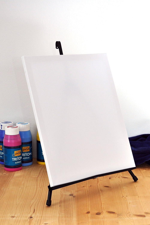 Sch/ürze und Pinselset Acryl-Farben Leinwand ArtMasters 16 TLG komplett Malset XXL mit Tisch-Staffelei