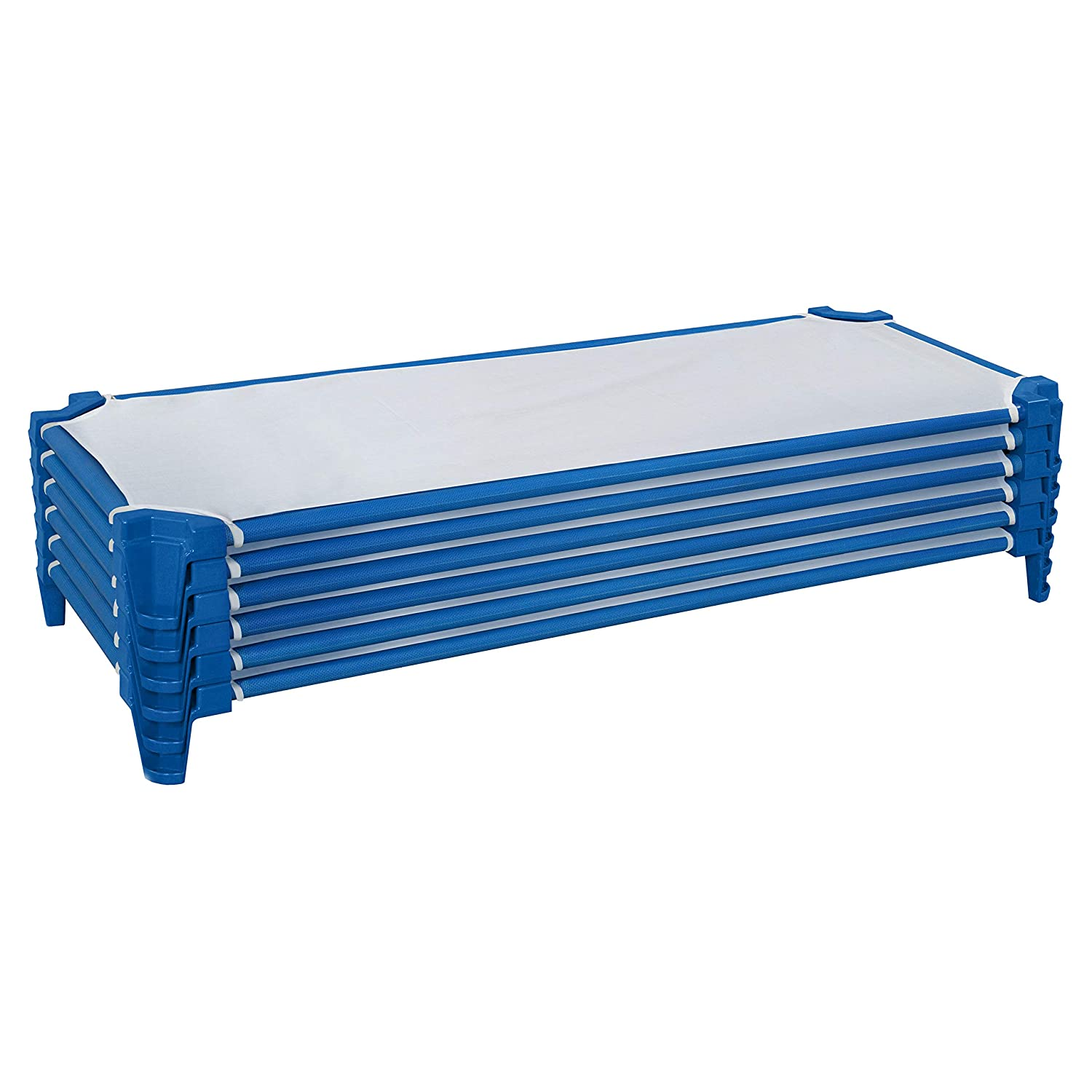 Wood Designs Stackable Daycare Cots for Kids with Sheets, 52