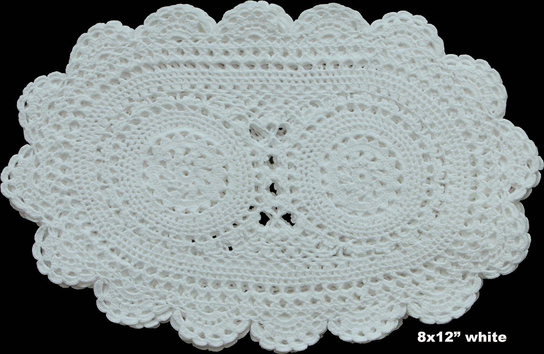 Amazon 6pcs 8x12 oval fine crochet lace doily white 100 amazon 6pcs 8x12 oval fine crochet lace doily white 100 cotton handmade set of 6 pieces home kitchen arubaitofo Image collections