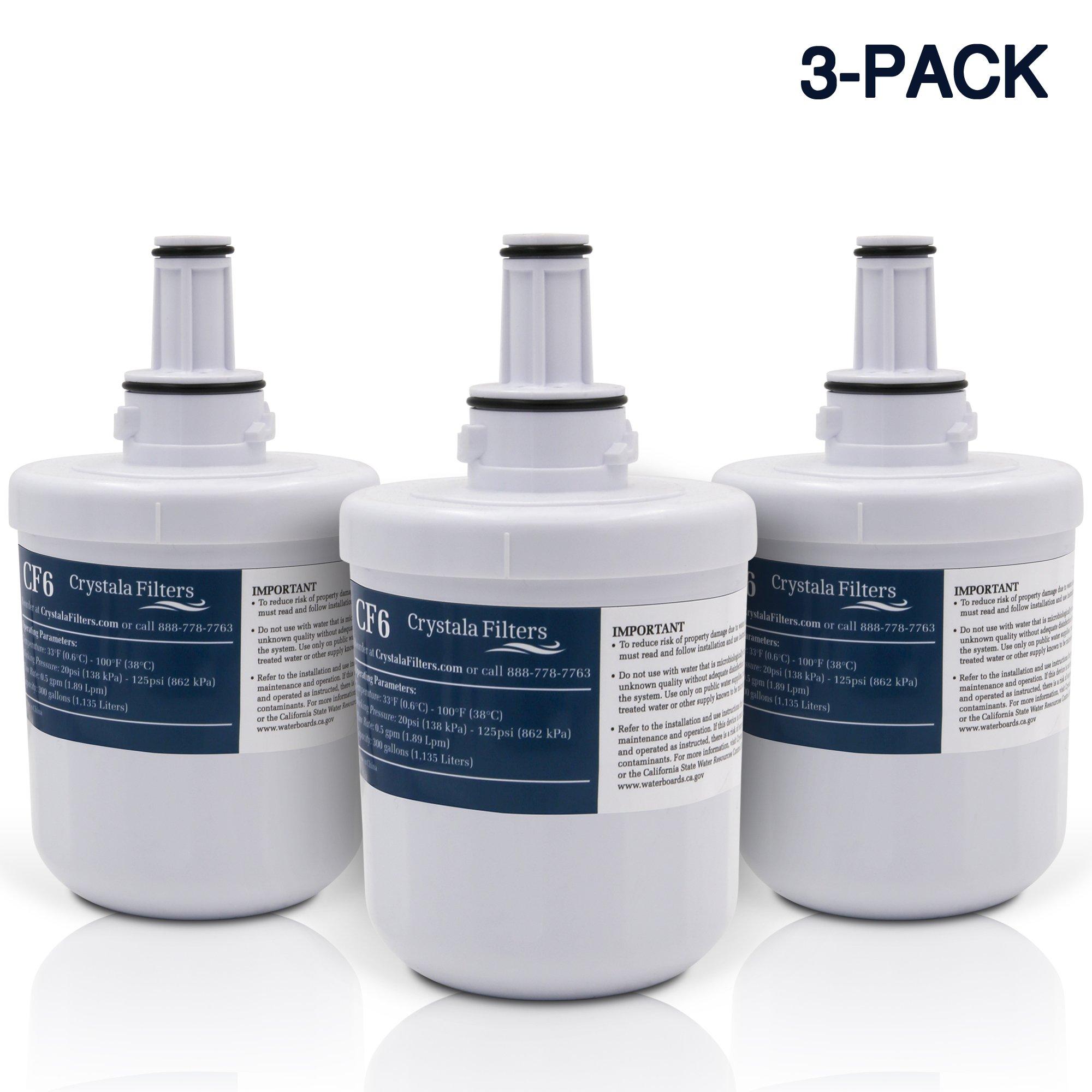 Crystala DA29-00003G Refrigerator Water Filter, Replacement for Samsung DA29-00003G, Aqua-Pure Plus DA29-00003B, HAFCU1 Water Filter (Pack of 3)