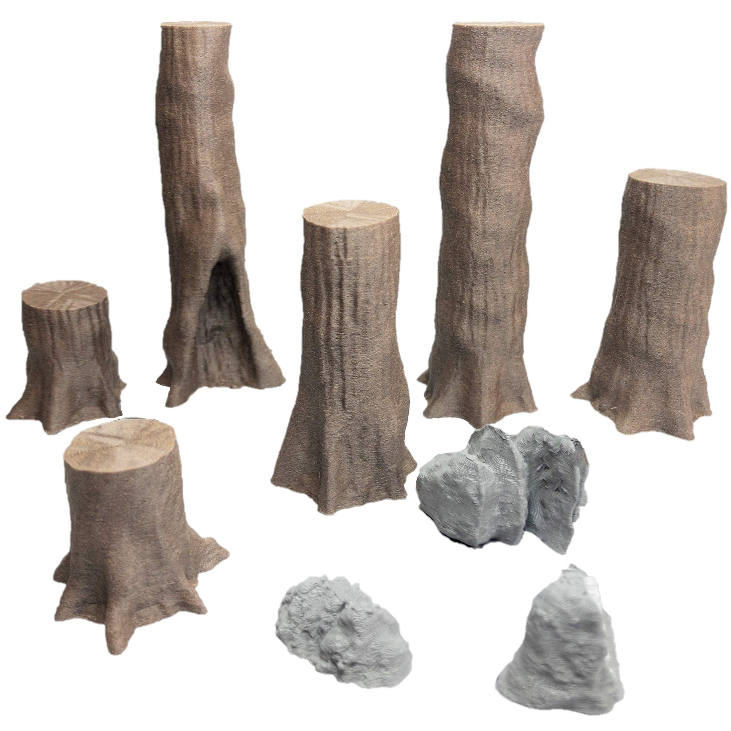 Giant Chestnut Trees Set 3 - 28mm Gaming Terrain by Extruded Gaming