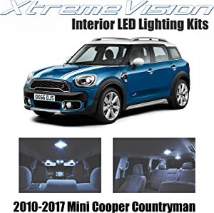 XtremeVision Interior LED for Mini Cooper Countryman 2010-2017 (8 Pieces) Cool White Interior LED Kit + Installation Tool