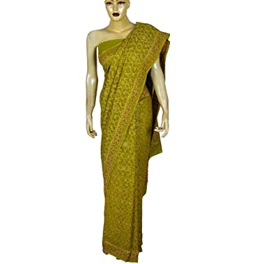 Indian Saree Green Traditional Wedding Dresses From India