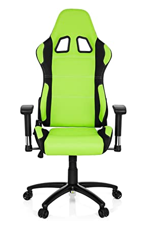 hjh OFFICE 729310 silla gaming GAME FORCE tejido negro / verde silla de oficina reclinable silla escritorio: Amazon.es: Hogar